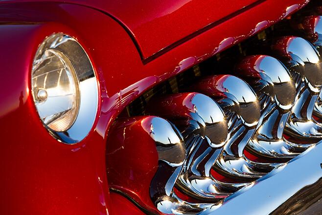 Mercury coupe front detail