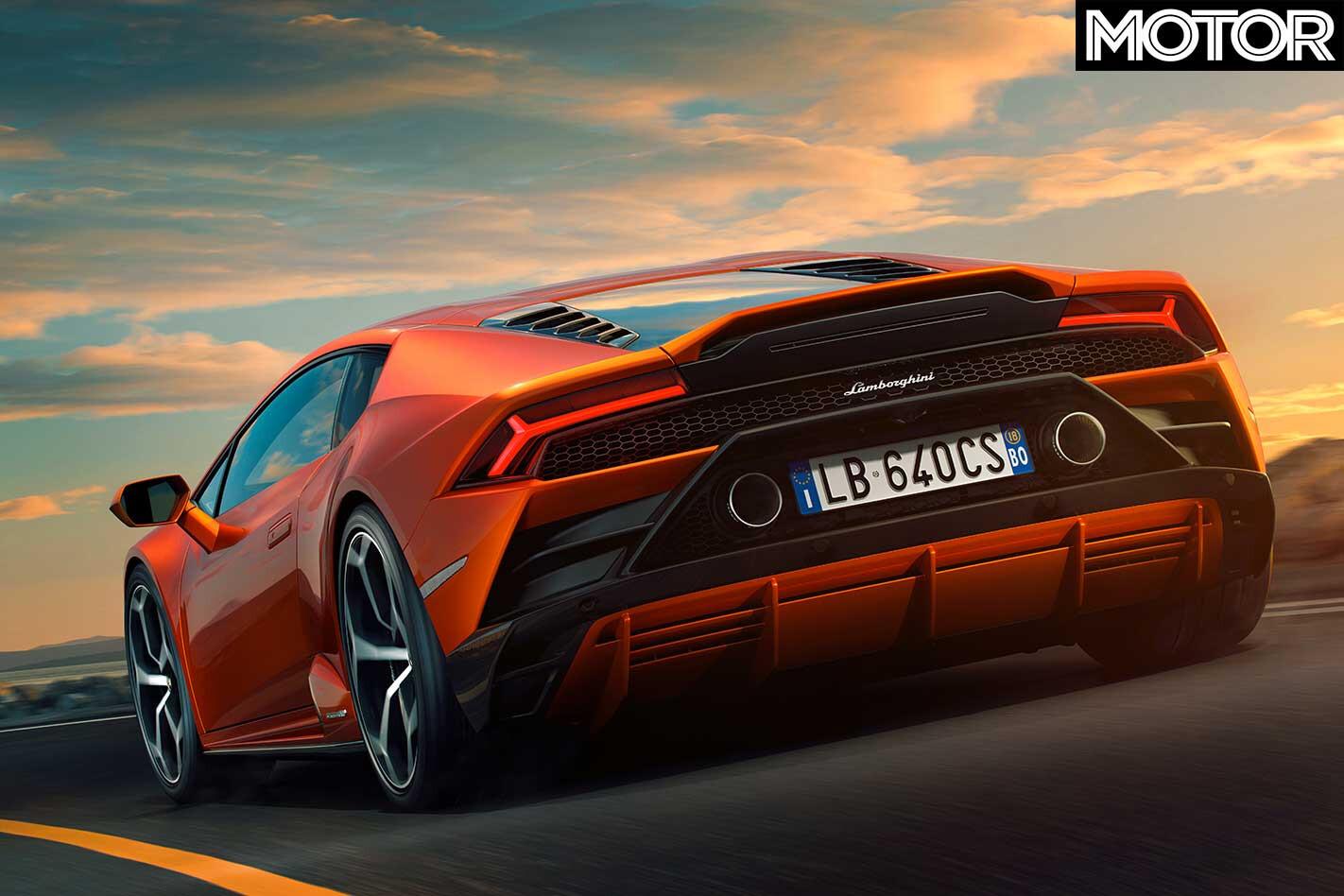2019 Lamborghini Huracan Evo Rear Jpg