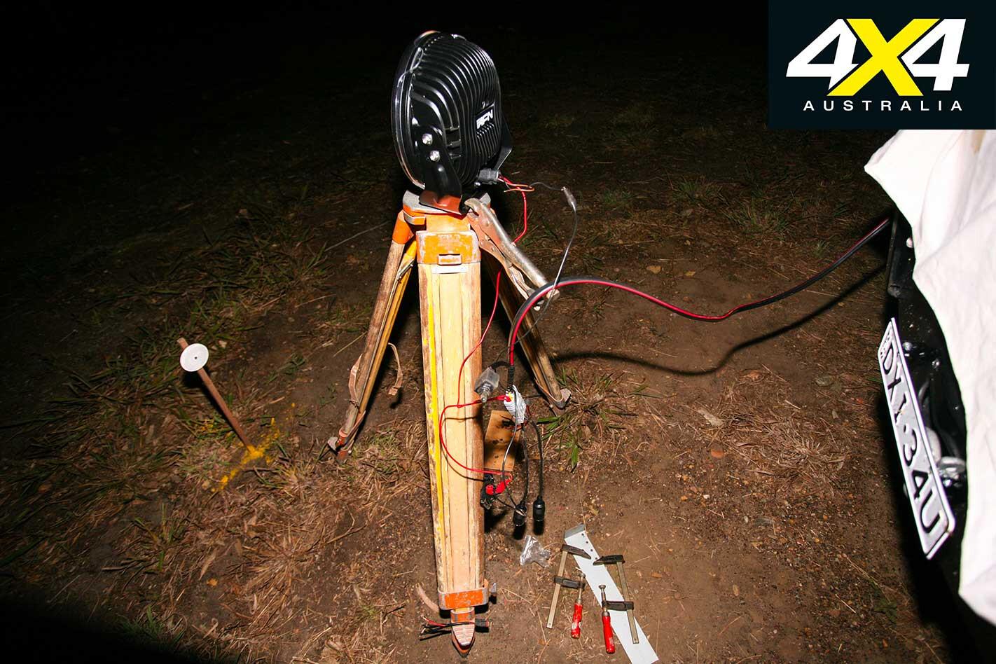 4 X 4 LED Driving Light Testing Rig Setup Jpg