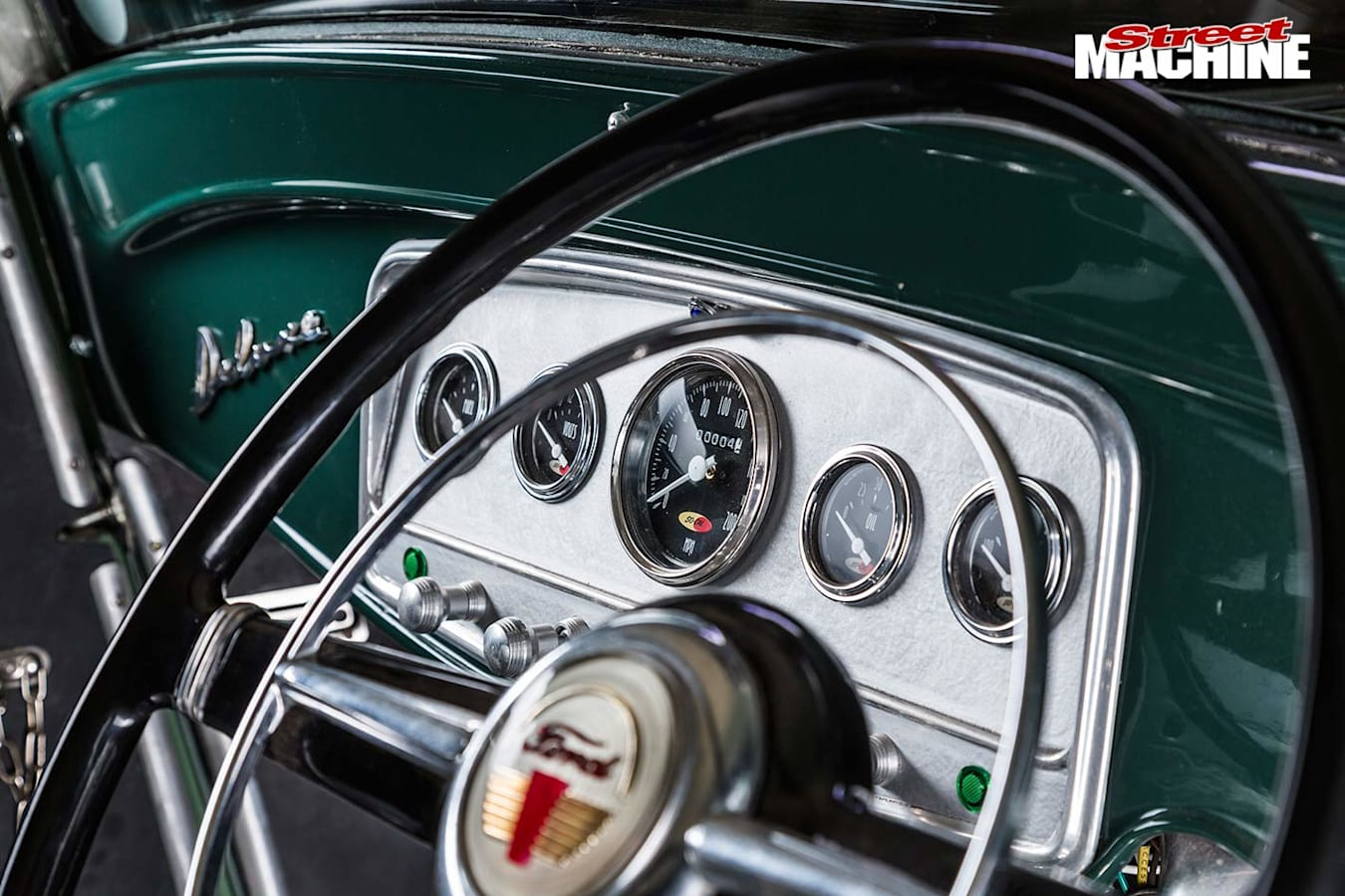 Ford 3-window coupe dash
