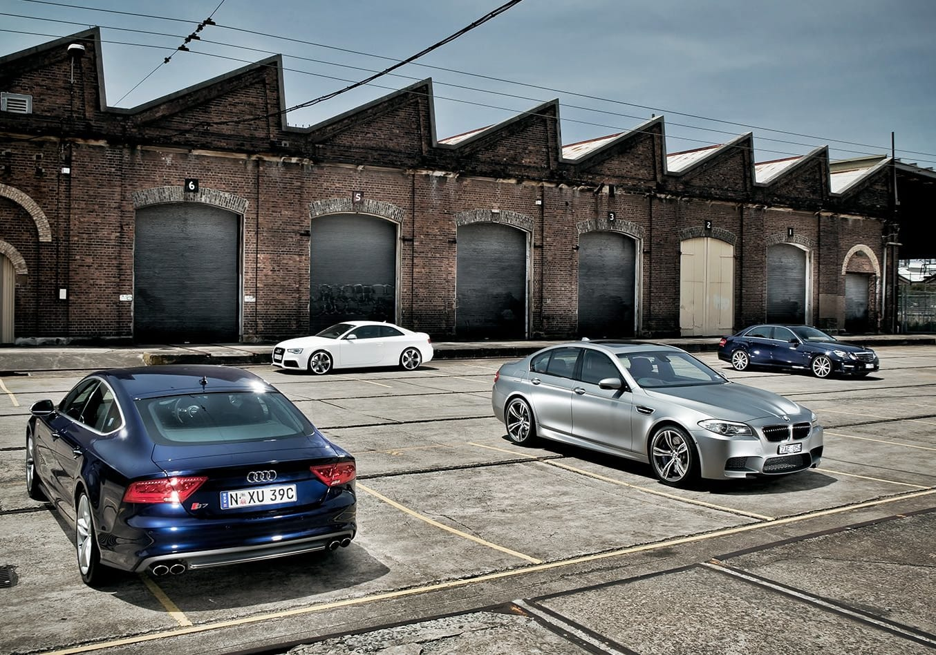 Audi S7 BMW M5 Mercedes Benz E63 Audi RS5 at Performance Car of the Year 2012