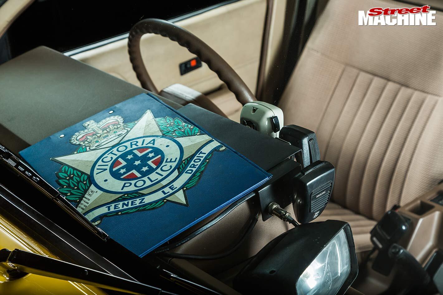 Victoria Police clipboard