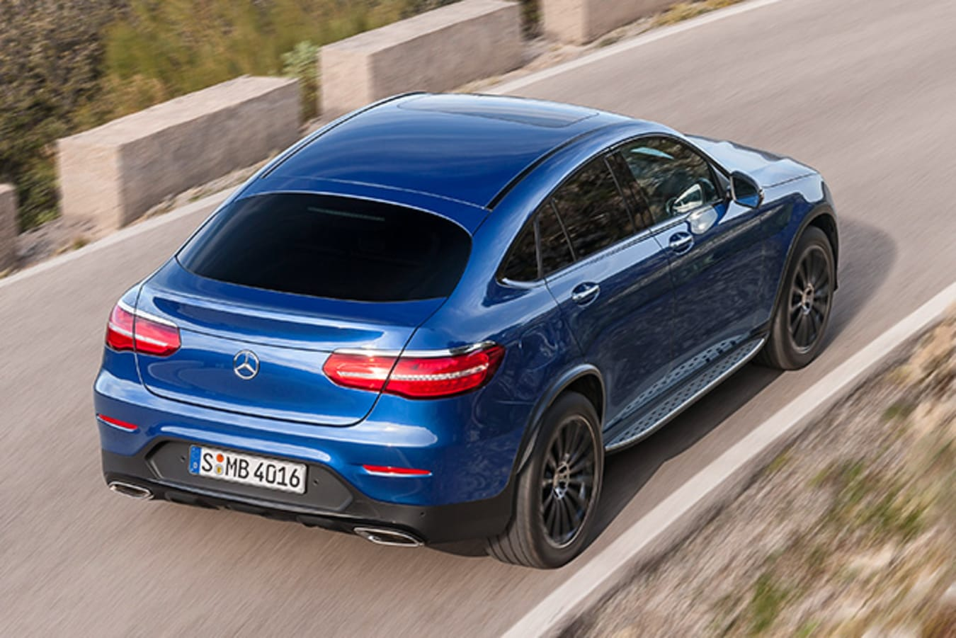 Mercedes-Benz GLC Coupe top side rear