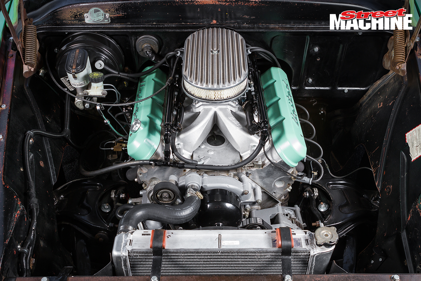 55 Chevy Pick Up Engine 3