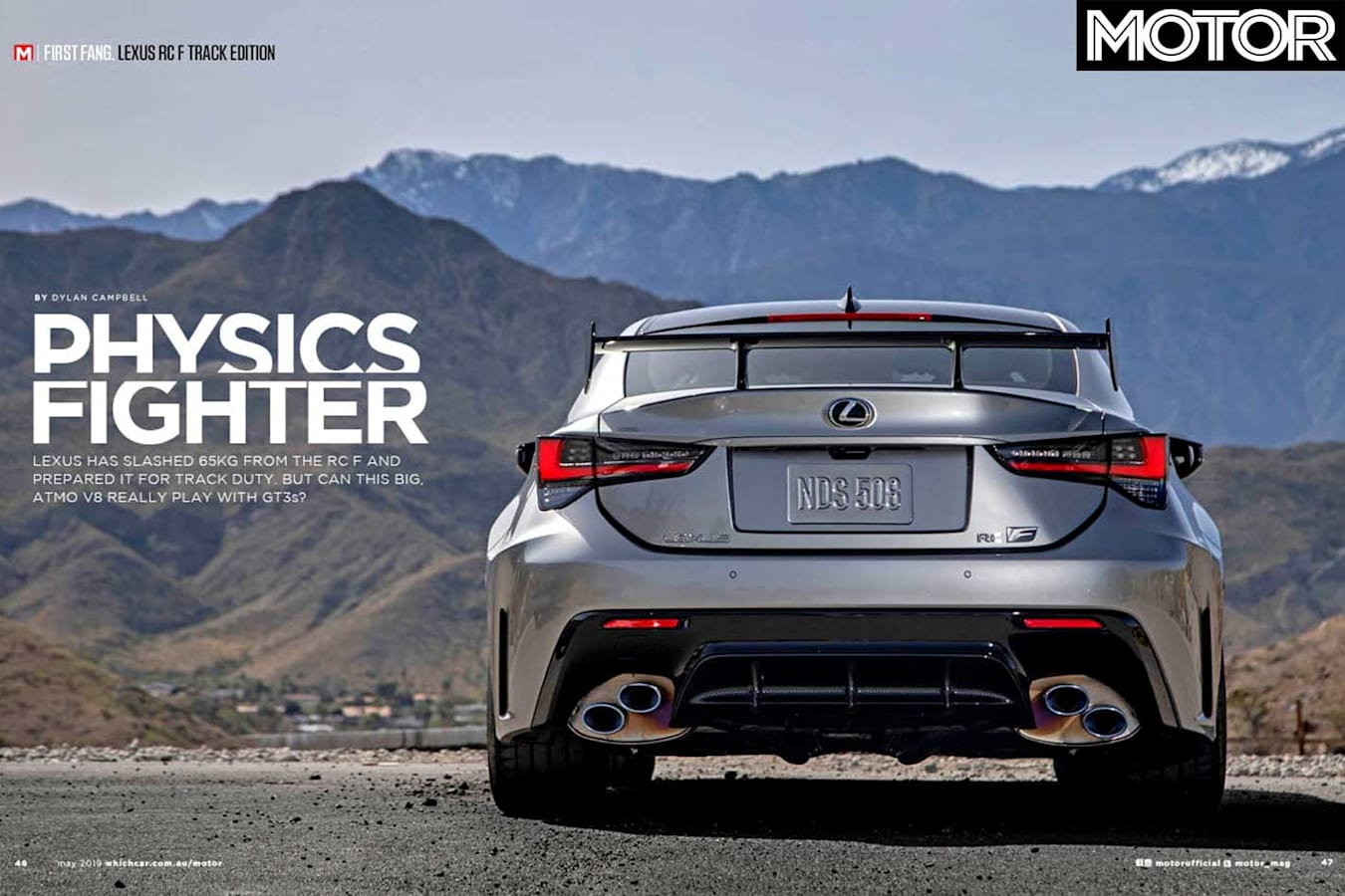 MOTOR Magazine May 2019 Issue Preview Lexus RC F Track Edition Fanged Jpg