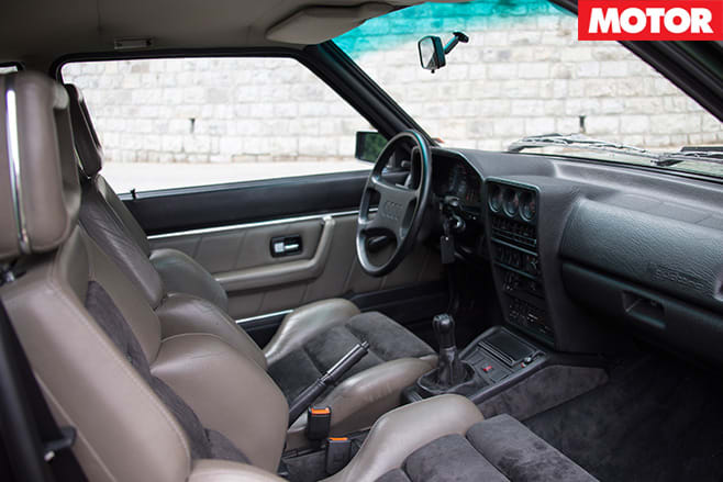 Audi sport quattro  1984 interior