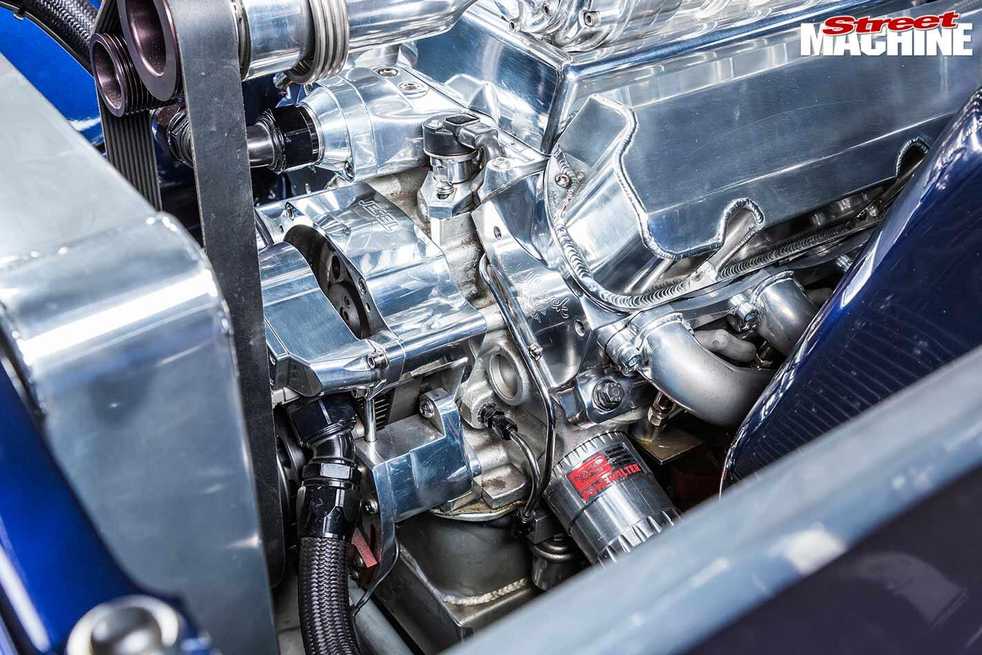 Ford ZB Fairlane engine bay