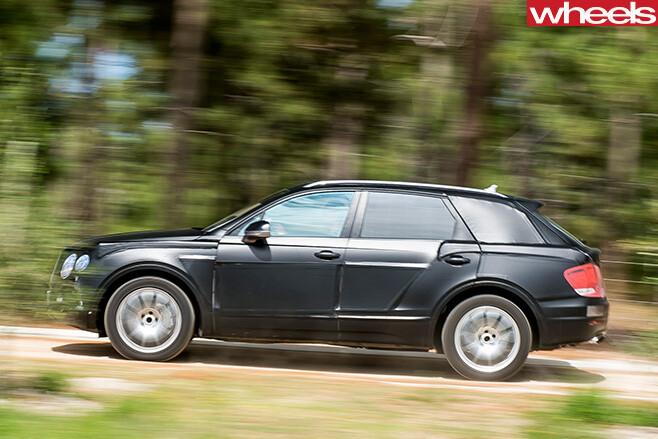 Bentley -Bentayga -side -driving