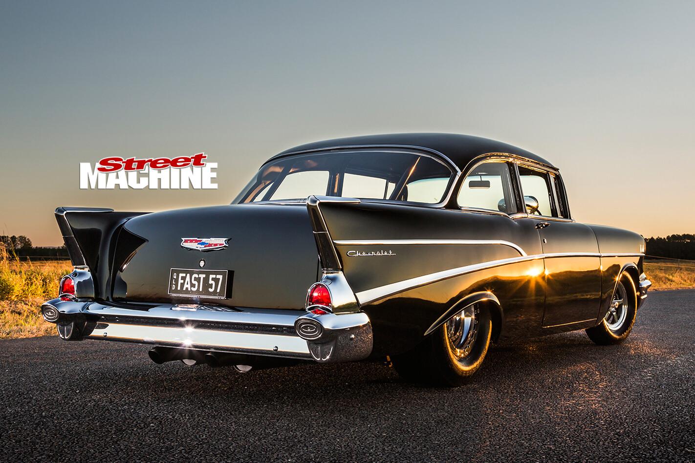1957-Chevrolet -rear -side