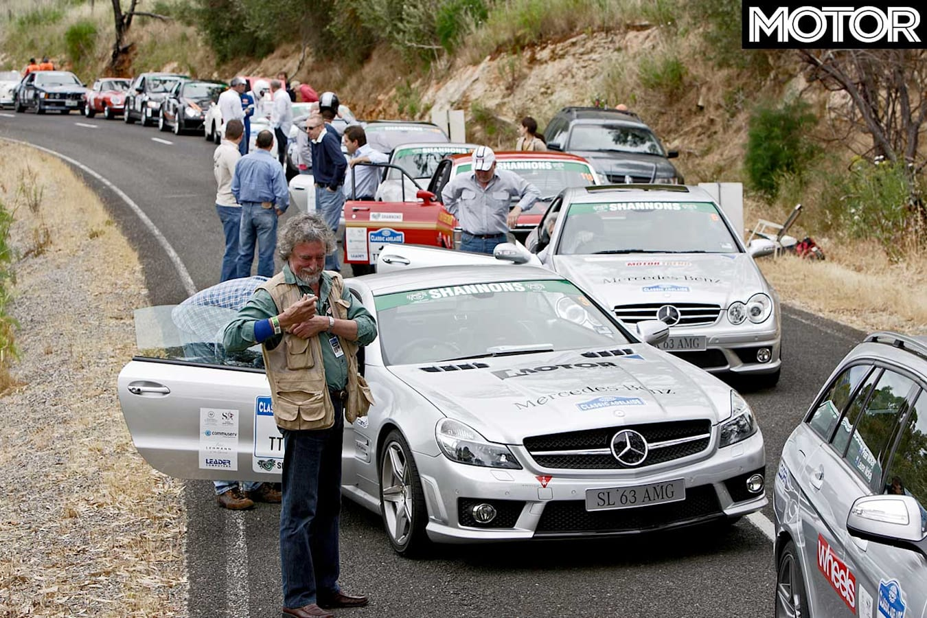 Tackling The Classic Adelaide With Sl 63 Amg Line Up Jpg