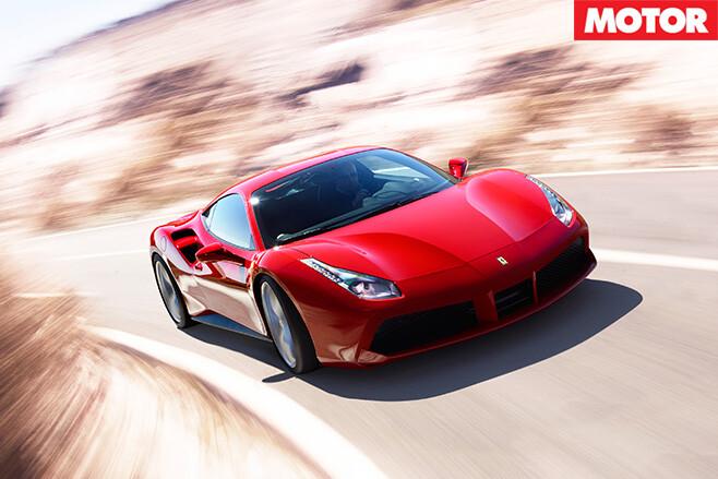 Ferrari 488 gtb driving