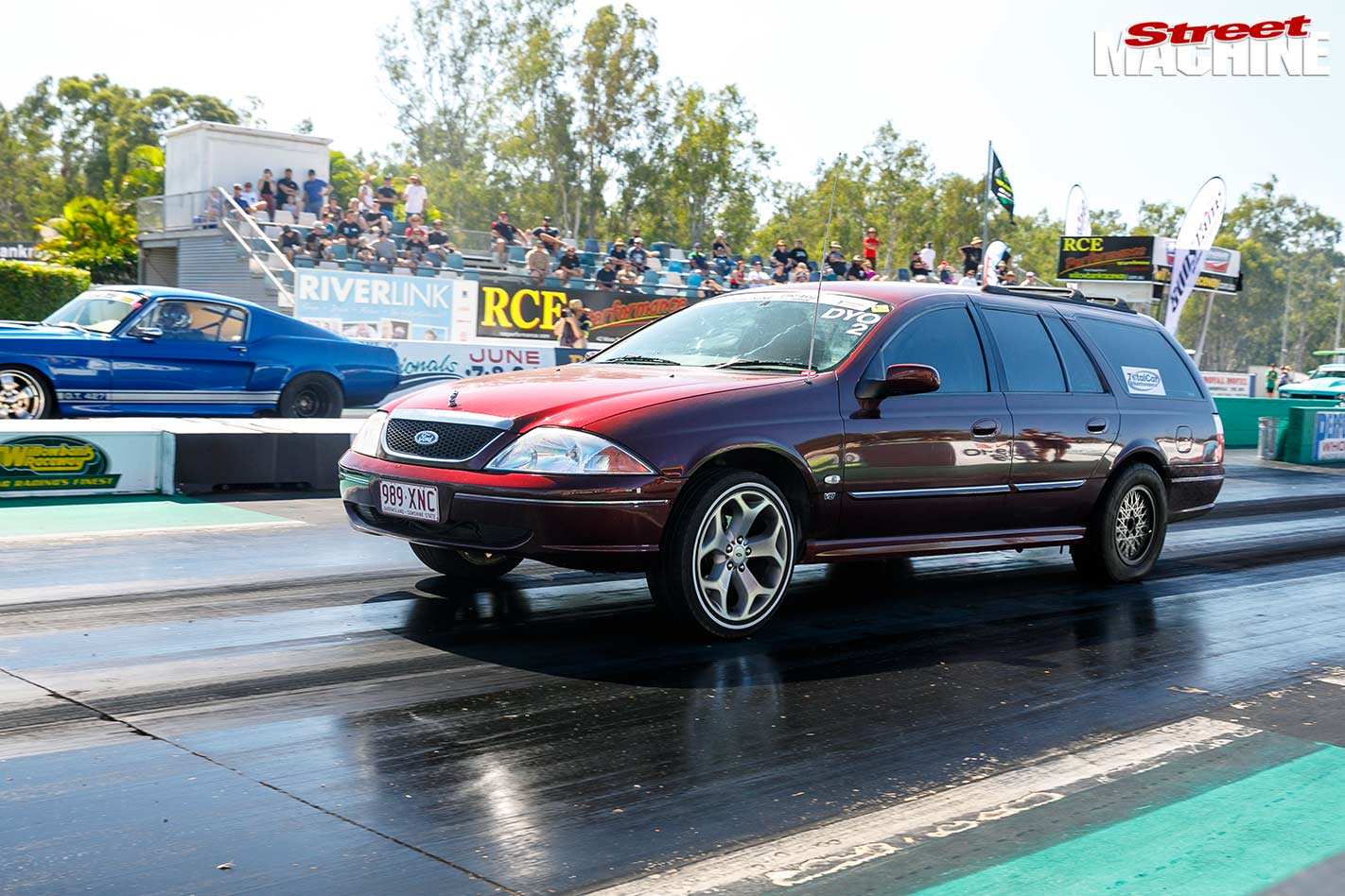 Ford Falcon AU wagon at drag challenge weekend