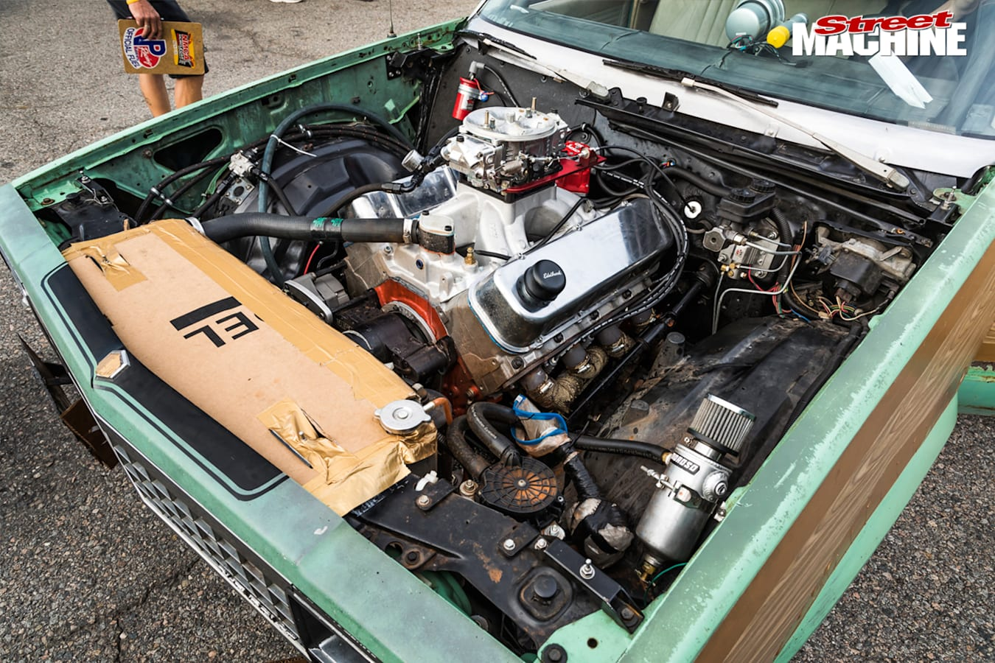 565ci big block chevy malibu engine bay