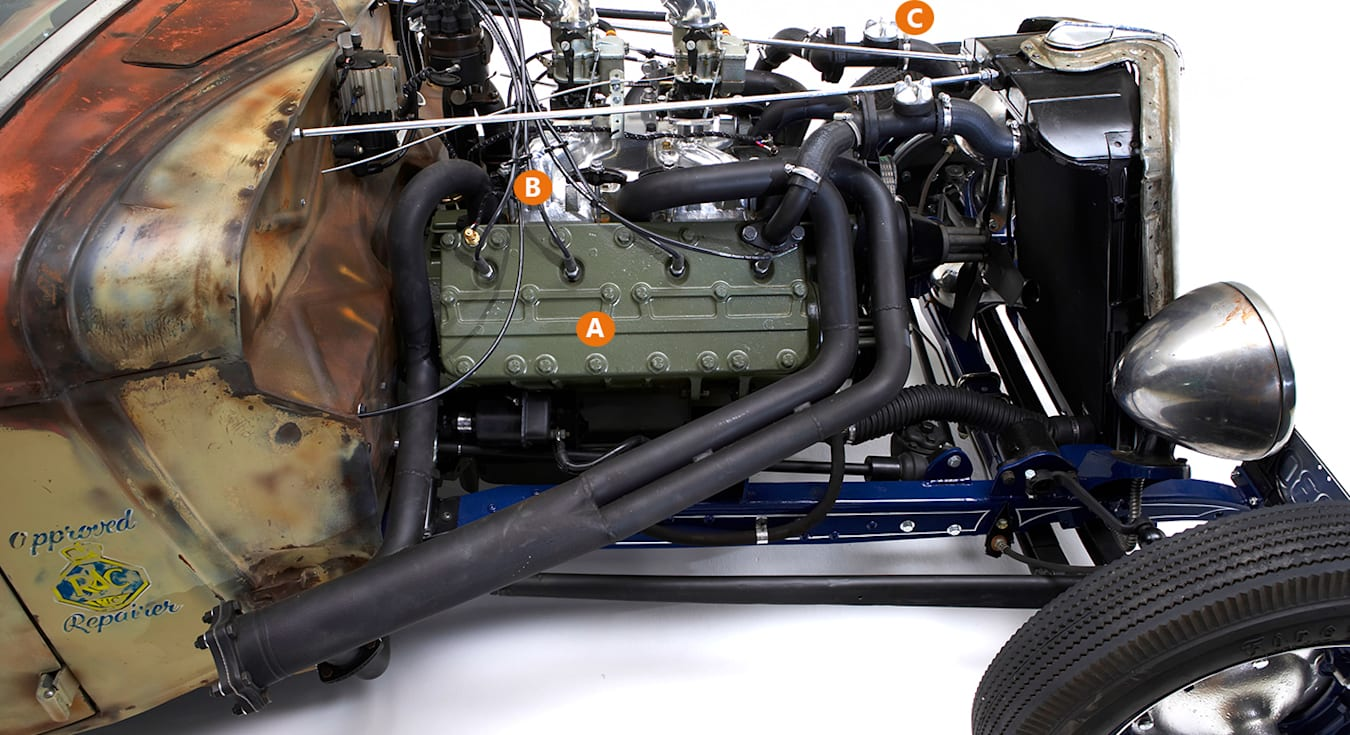 1935 Ford Truck engine