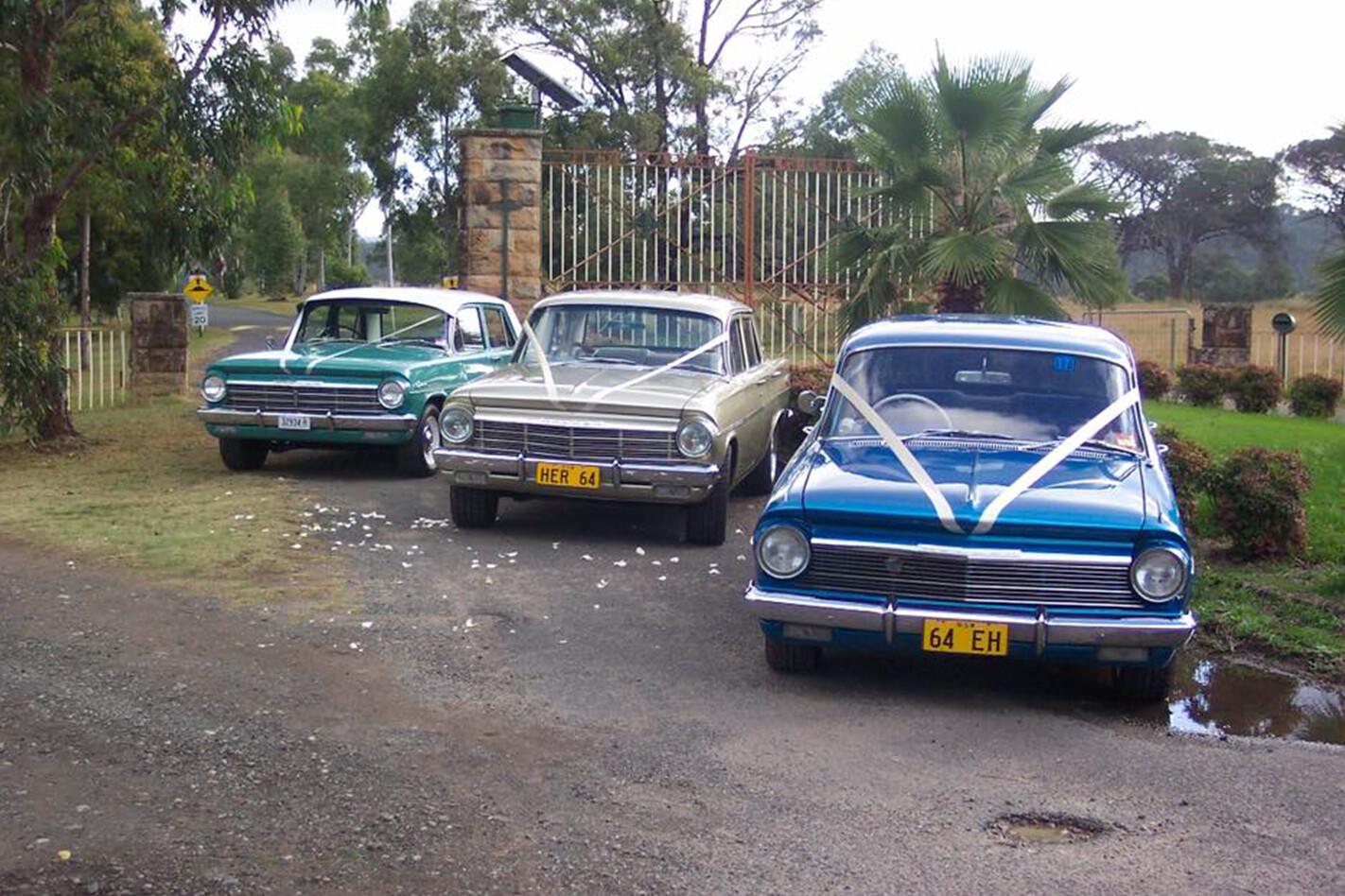 Wes Bracken's Holden wedding cars
