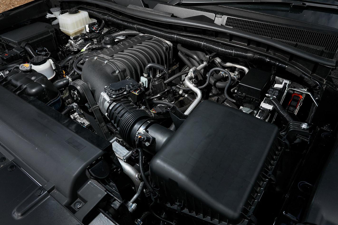 Harrop Supercharged 2020 Nissan Patrol engine bay