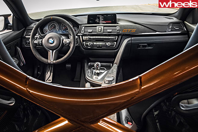BMW-M4-GTS-roll -cage -rear