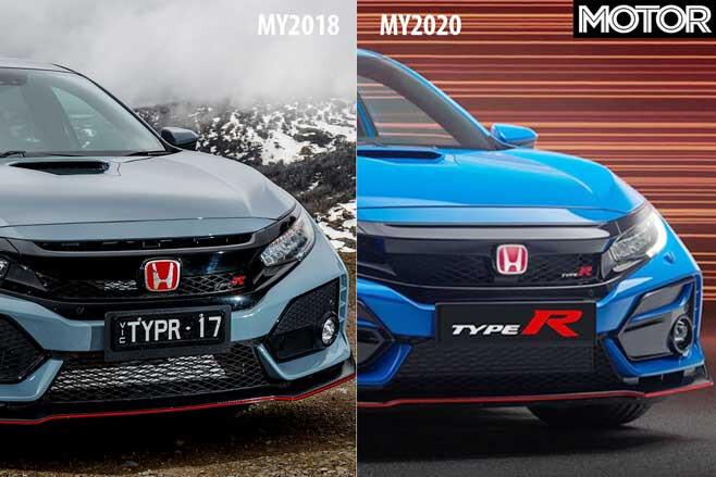 2020 Honda Civic Type R Facelift Front Comparison Jpg