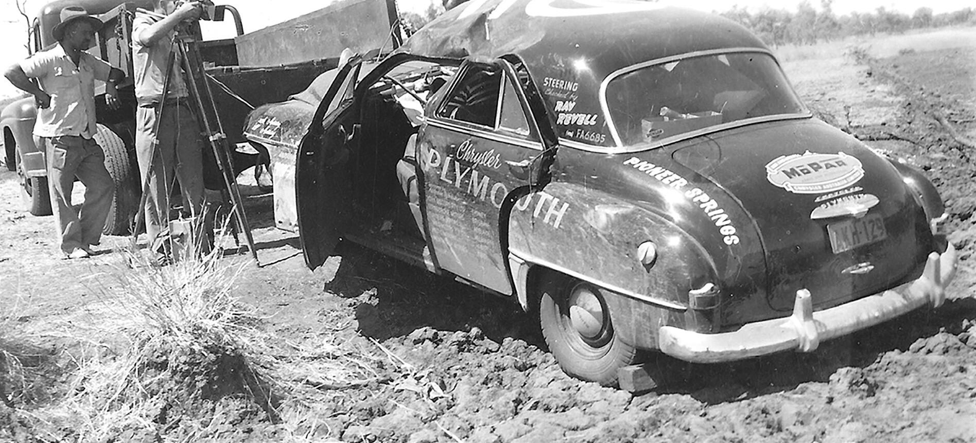 Jack Gelignite Rolled 1952 Chrysler Plymouth Jpg