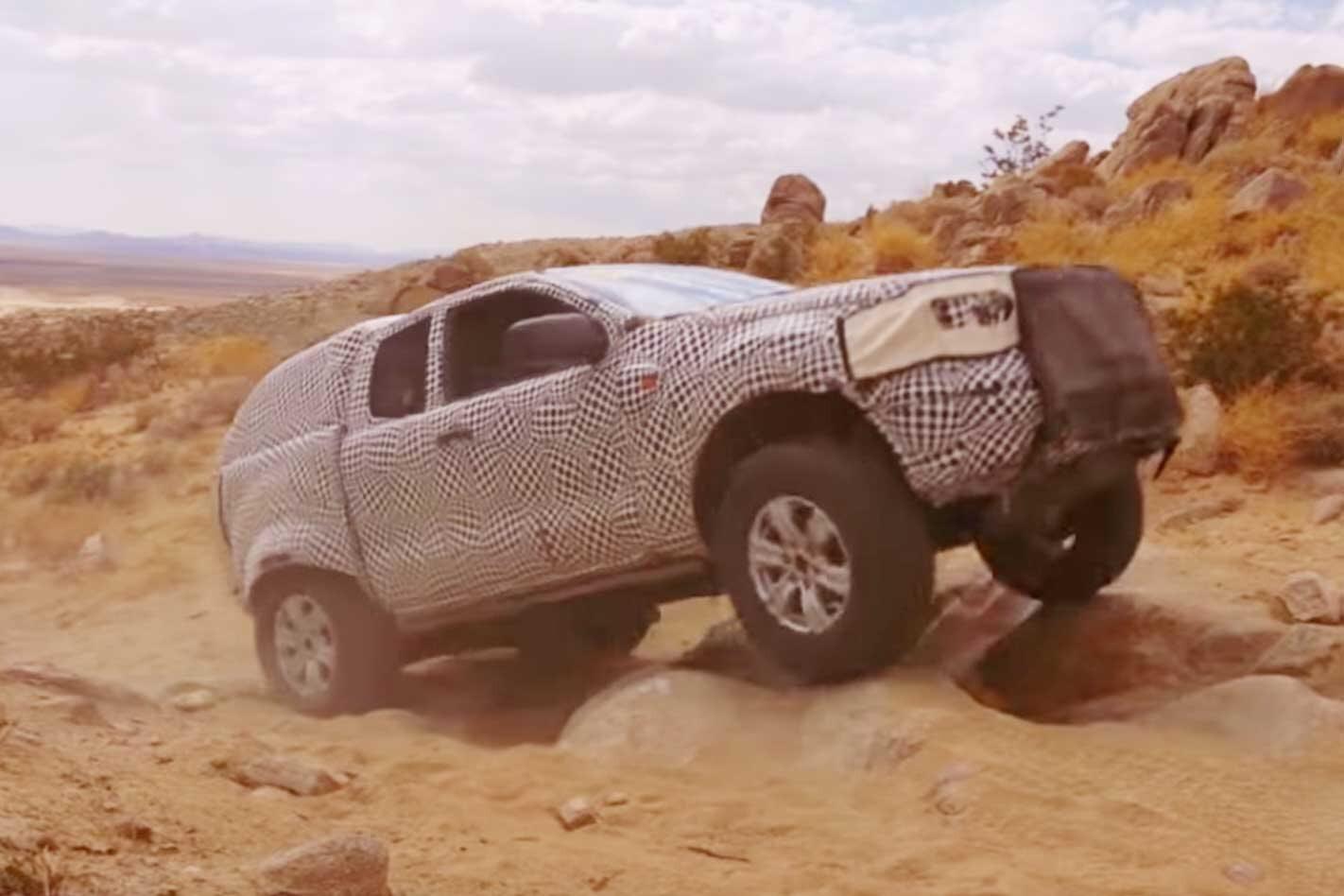 Ford Bronco SUV prototype testing off-road California