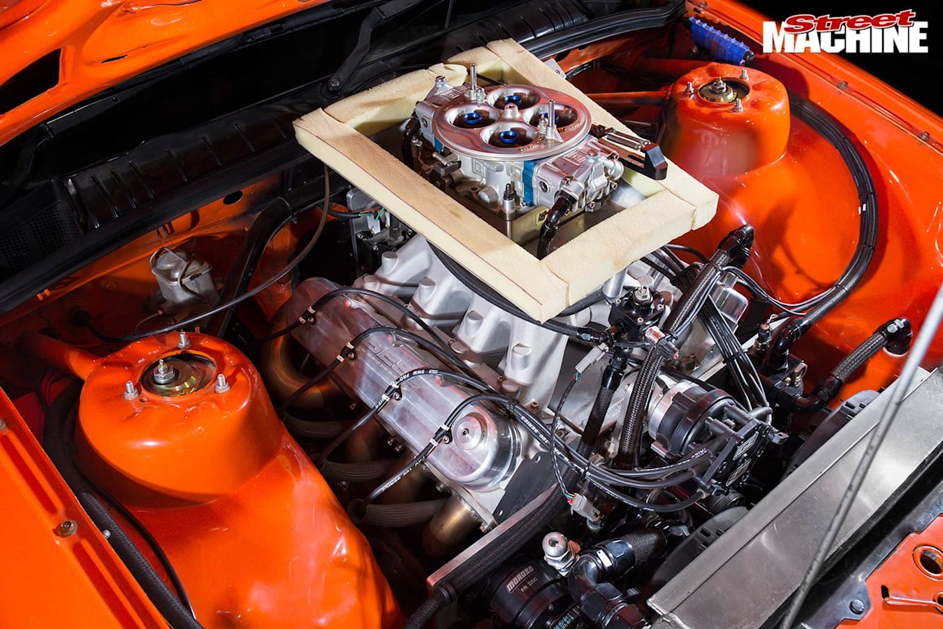 Holden VN Commodore engine bay