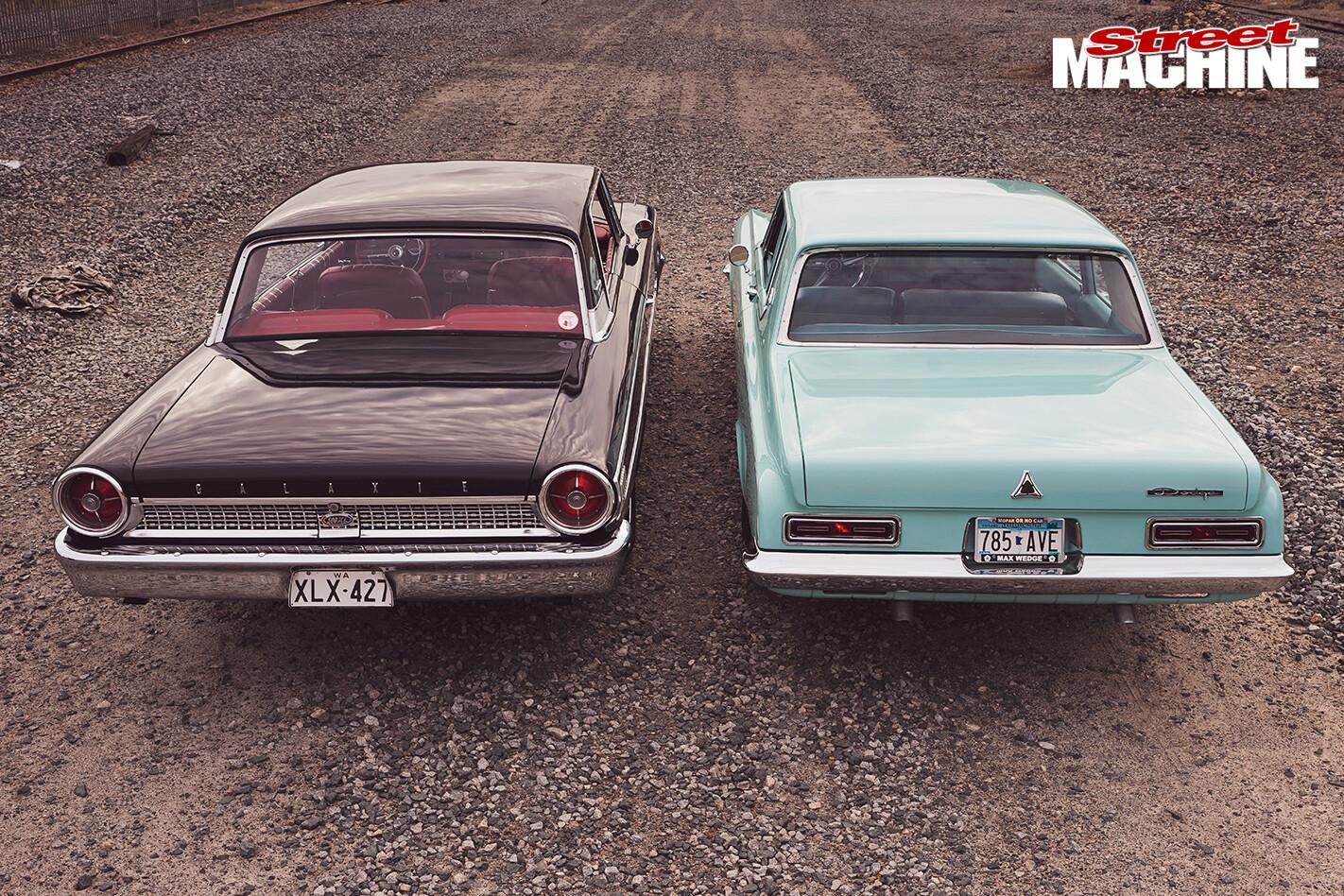 Dodge -Polara -330-vs -Ford -Galaxie -500XL-back