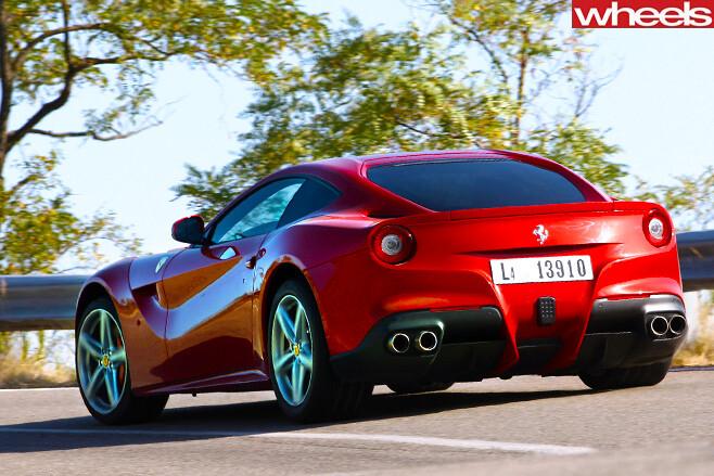 Ferrari -F12-Berlinetta -rear -shot