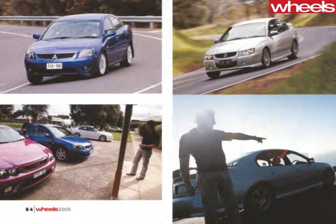 2005-Ford -BF-Falcon -vs -competitors -driving