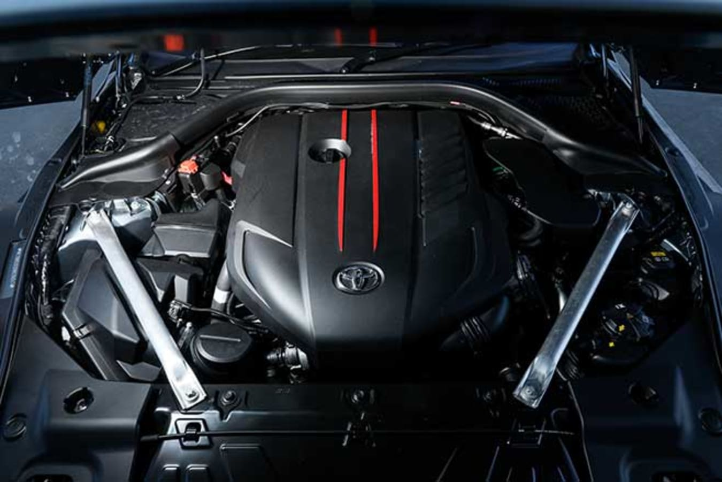 The Toyota Supra uses BMW's B58 straight-six engine