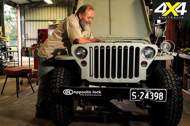 Roothy fixing his ww2 jeep