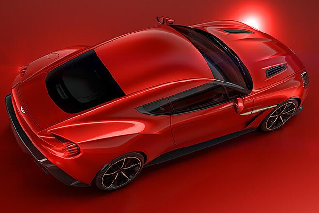 Aston Martin Zagato top side