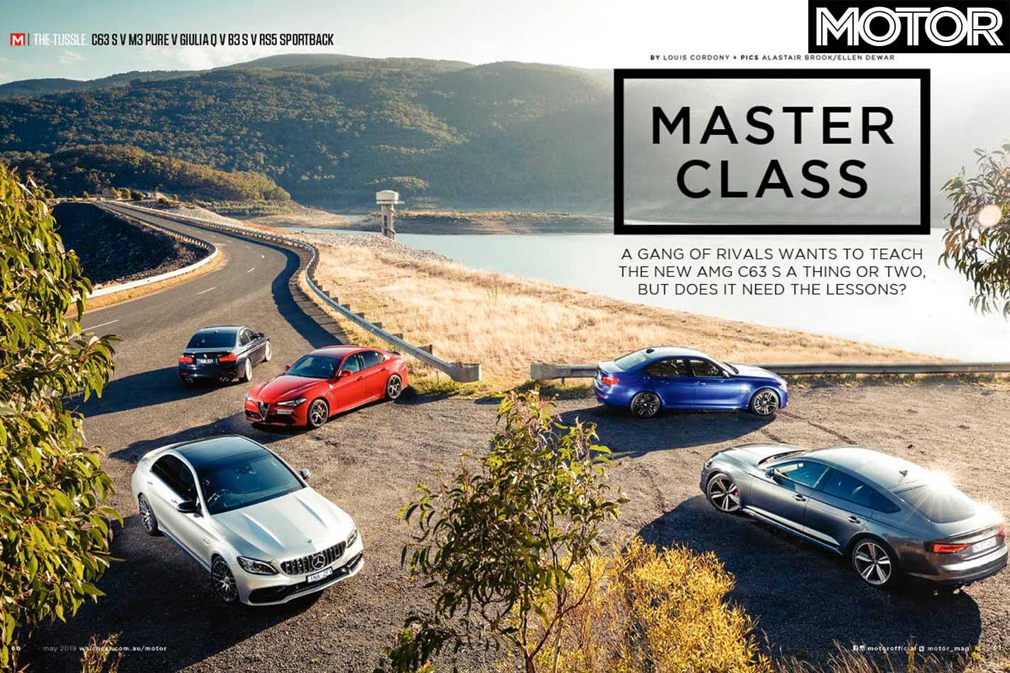 MOTOR Magazine May 2019 Issue Preview AMG C 63 S V M 3 Pure V RS 5 V Giulia Q V Alpina B 3 S Jpg