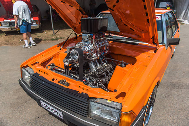Robert Cottrell's Blown LS Powered XD Ford Falcon Engine Bay