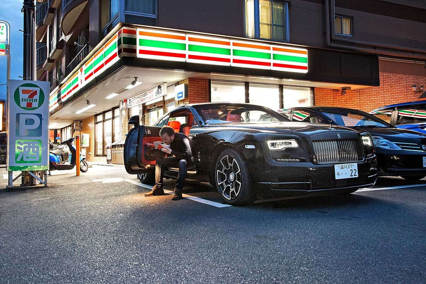 Finding Japan Car Culture Rolls Royce Wraith Black Badge Jpg