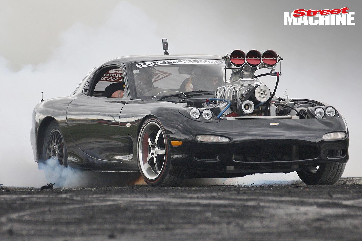 Mazda RX7 V8 Blown Burnout