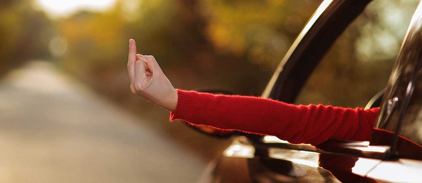 What hand signals while driving means