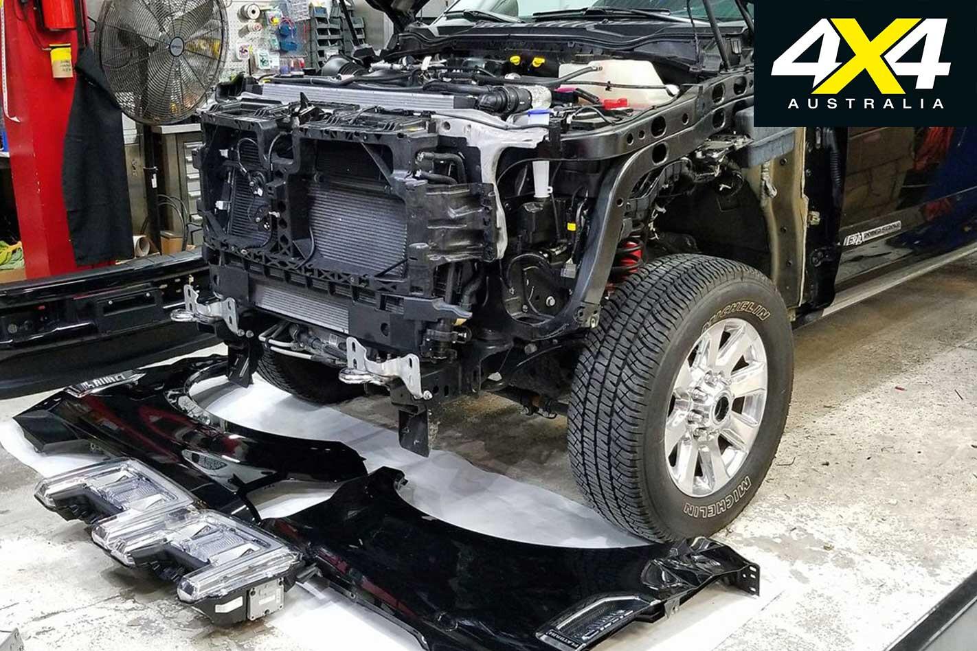 Ford F 250 Post Apocalyptic Treatment Bodykit Installation Jpg