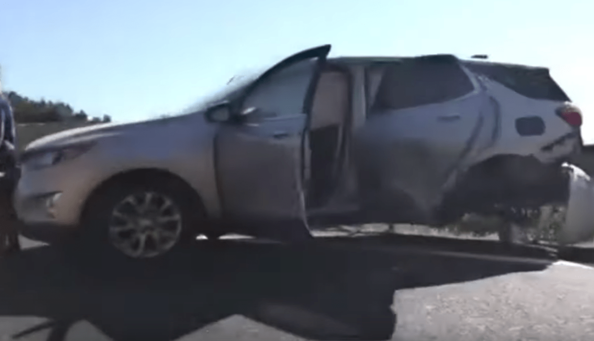 Crashed Chevrolet Corvette C8