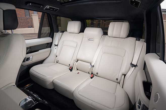 Heated and cooled reclining rear seats