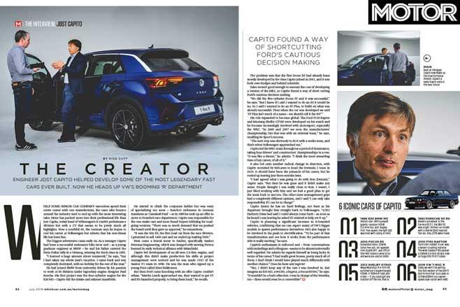 MOTOR Magazine July 2019 Issue Jost Capito Interview Jpg