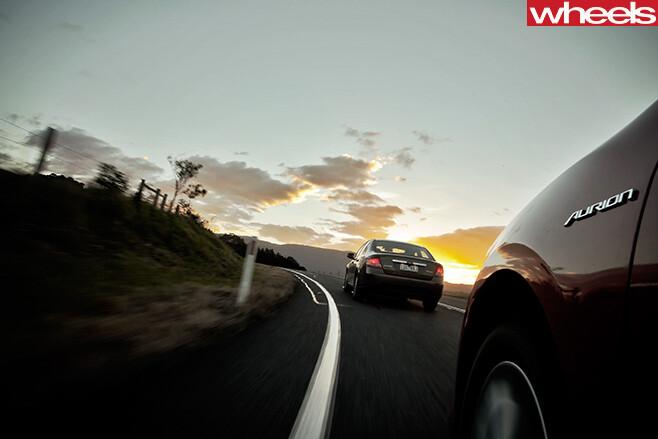 2012-Ford -Falcon -driving -rear