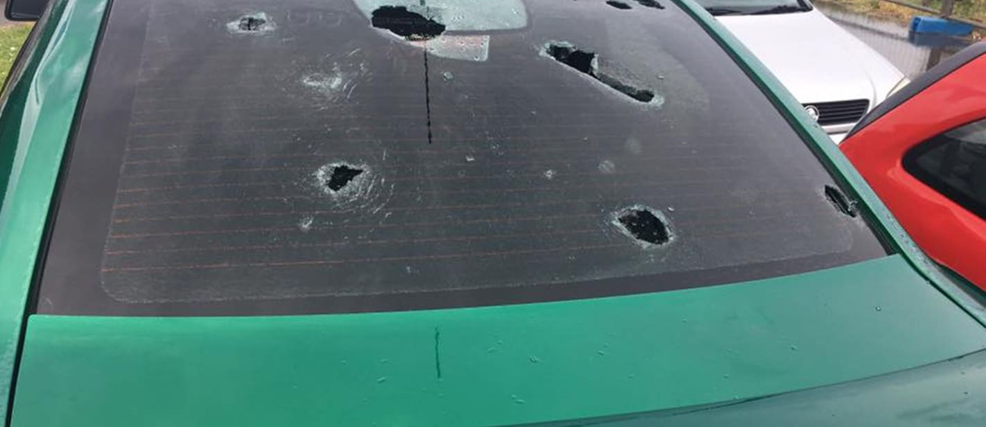 Hail damaged Holden Commodore