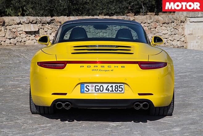 Porsche 911 targa back
