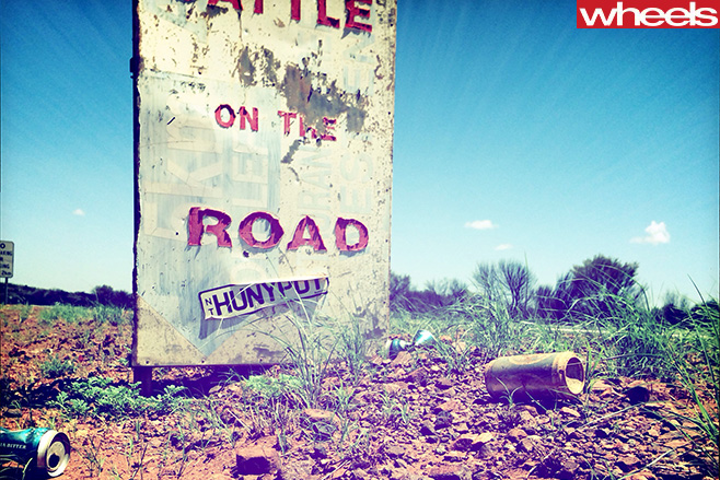 Battle -on -the -road -sign