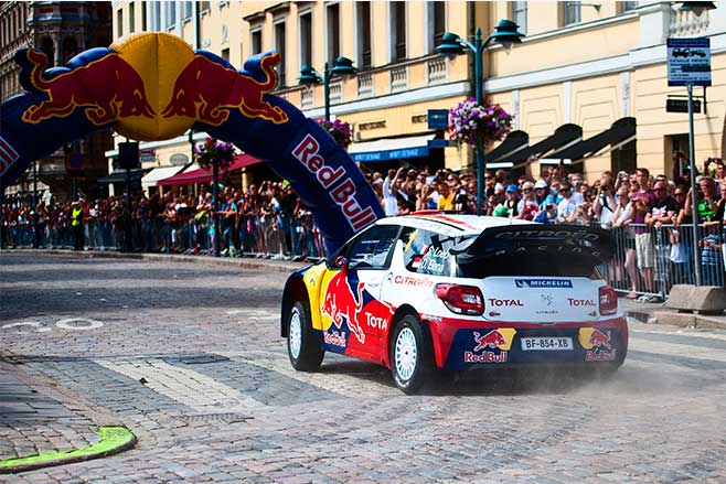 Sebastien Loeb driving Citroen DS3 WRC.
