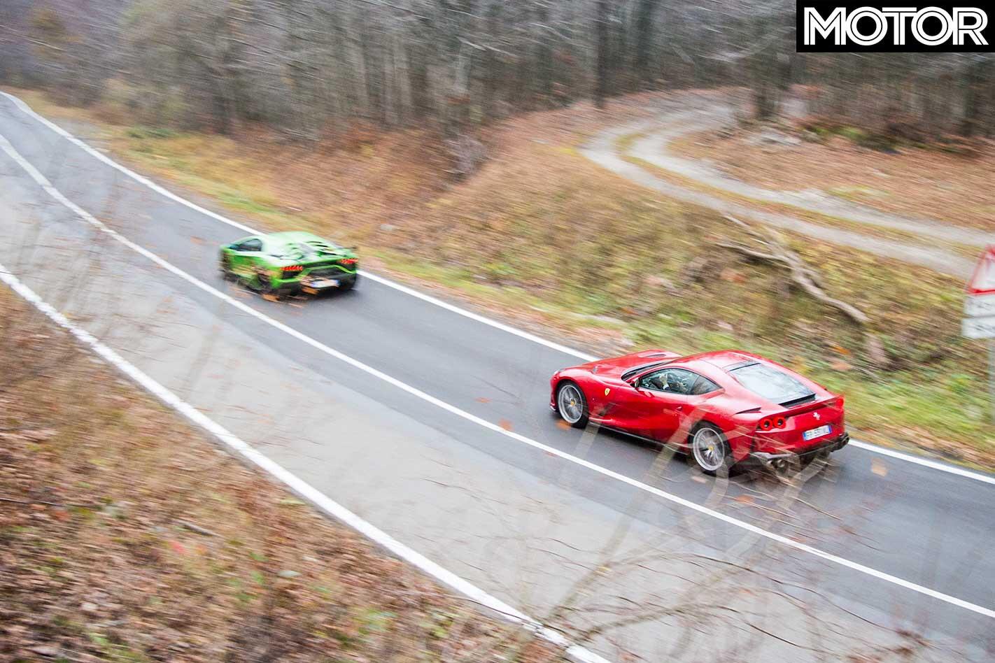 2019 Lamborghini Aventador SVJ Vs Ferrari 812 Superfast Comparison Drive Jpg