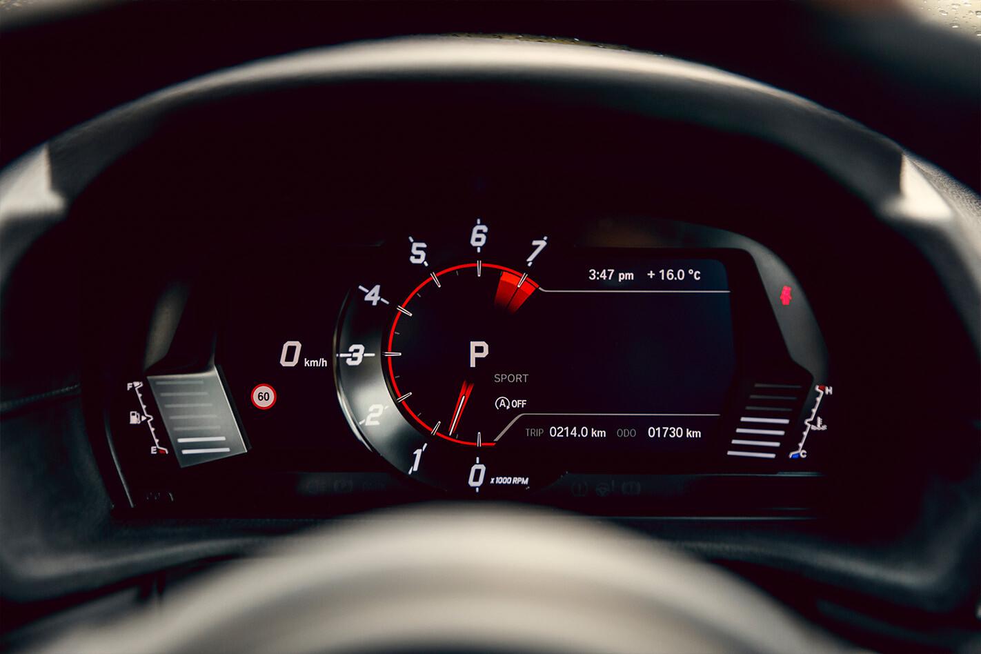 Toyota Supra Performance Testing Tacho Jpg