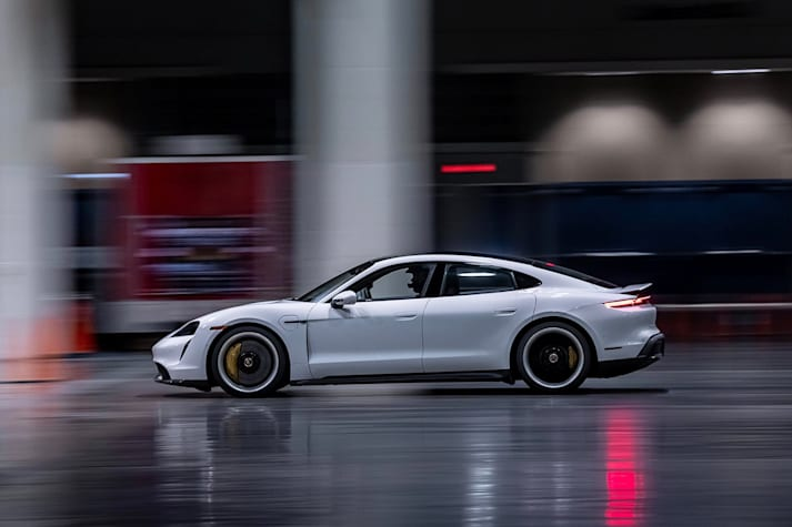 Porsche Taycan Turbo S crushes indoor speed record
