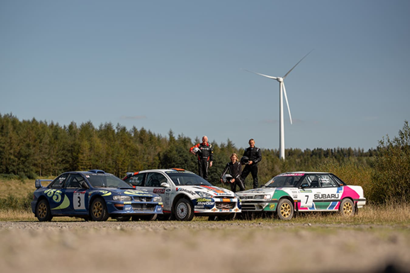 McRae family and rally cars