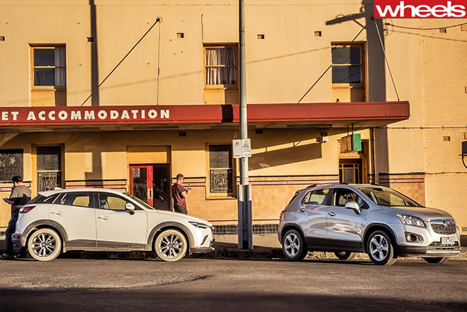 Mazda -Cx -3-and -holden -trax